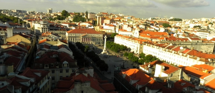 Praça do Rossio vista do mirante do Elevador de Santa Justa
