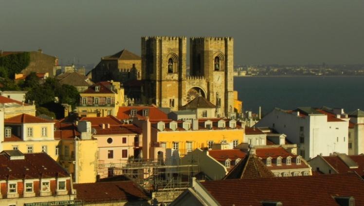 Sé Catedral vista do mirante do Elevador de Santa Justa