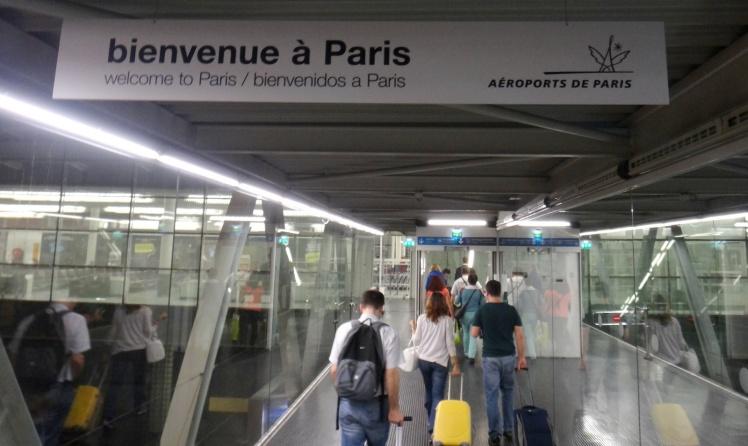 Chegada à Paris