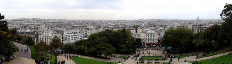 Panorâmica de Paris desde a Basílica de Sacré-Coeur