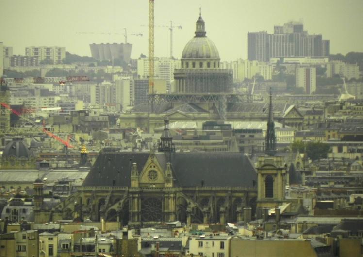 Notre Dame e Panthéon vistos desde a Sacré-Coeur