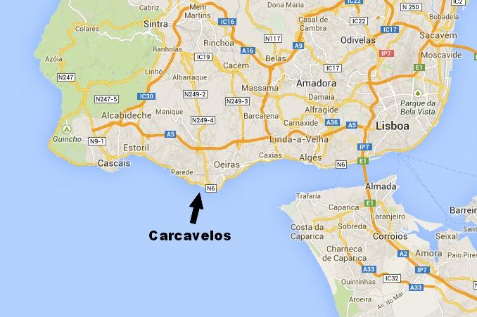 Localização de Carcavelos