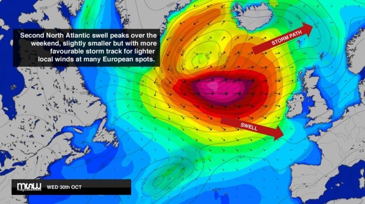 Mais um grande swell na Europa