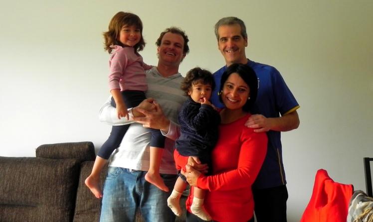 Alegria imensa em revê-los - Com Angelica, Gustavo e as meninas - em Bilbao