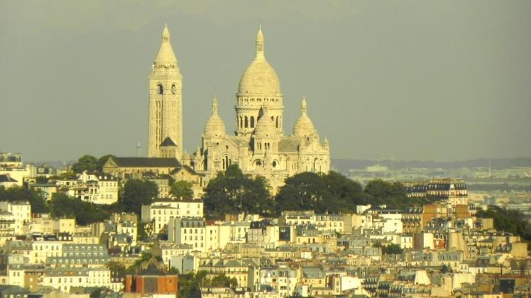 Basilica de Sacre-Coeur vista daTorre Eiffel - 2º nível