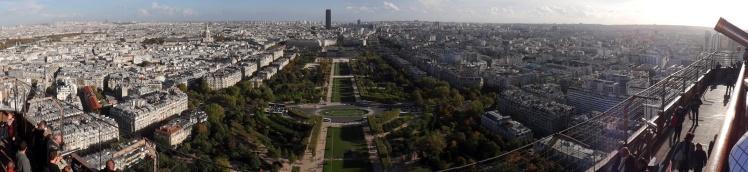 Panorâmica desde a Torre Eiffel - 2º Nível