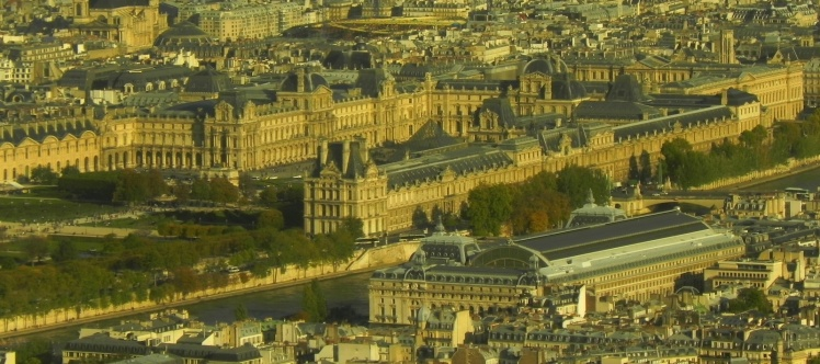 Louvre e Museu D'Orsay vistos da Torre Eiffel