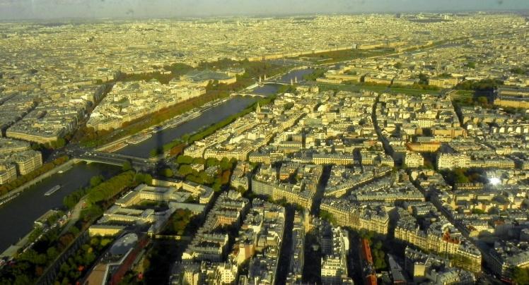 Torre Eiffel - vista do topo