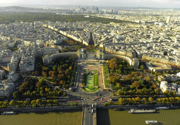 Trocadero visto do topo Torre Eiffel