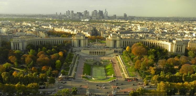 Trocadero visto do 2º nível da Torre Eiffel
