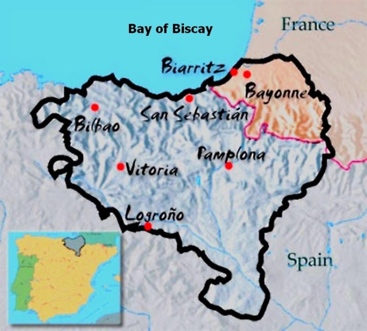 País Basco - Engloba área do nordeste da Espanha e sudoeste da França