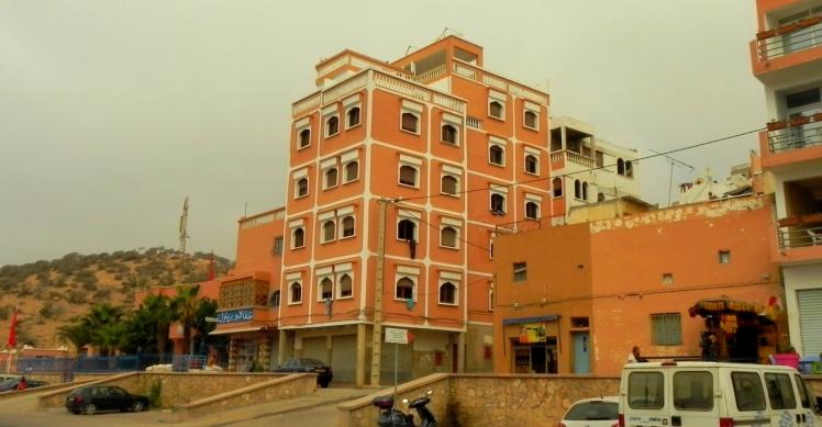 Edifício em que aluguei um apê em Taghazout