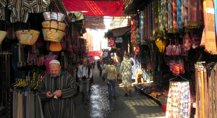 Souks em Marrakesh