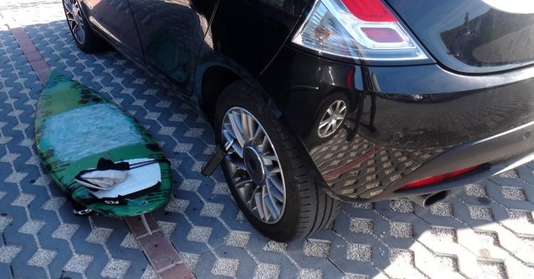 Cadeado JC Waves para guardar a chave do carro enquanto surfa - Fundamental em qualquer trip quando aluga-se um carro