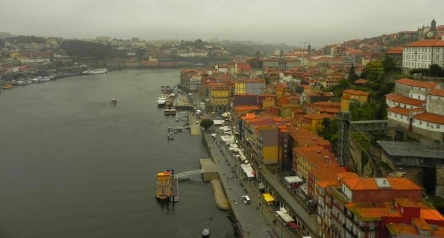 Rio Douro e Bairro da Ribeira vistos da Ponte Luis I