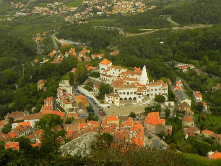 Centro Histórico de Sintra visto do Castelo dos Mouros