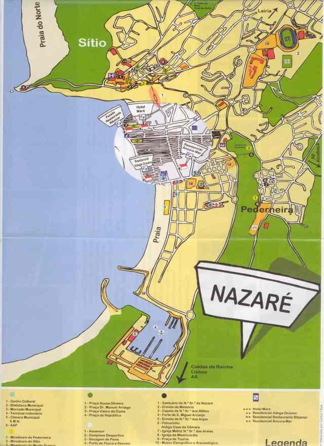 Mapa Turistico de Nazaré