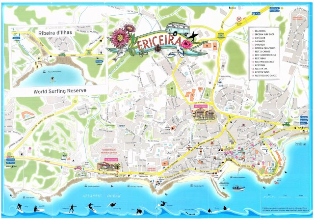Mapa Turístico de Ericeira