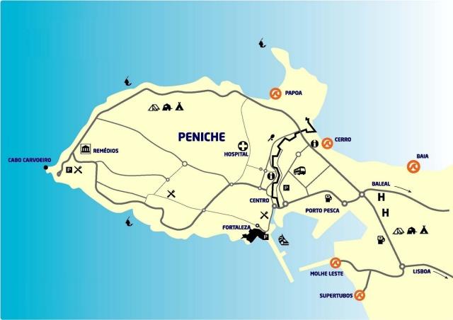 Mapa de Peniche