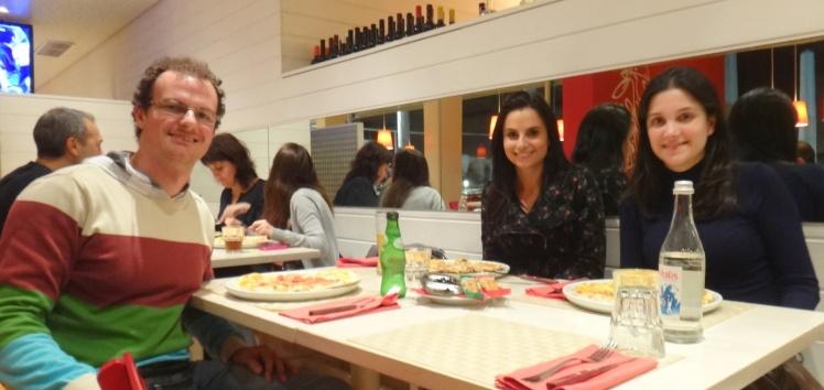 Jantinha buenassa com a Fernanda Lazzarotto e a Graciela em Carcavelos