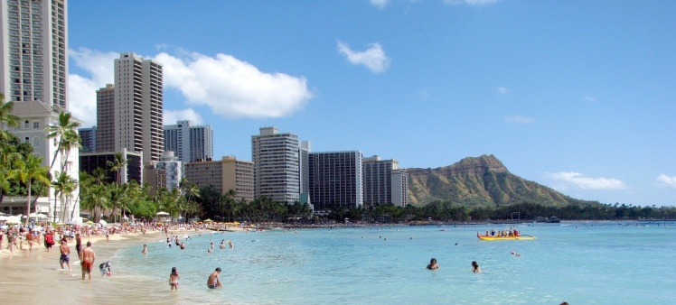 Diamond Head visto de Waikiki