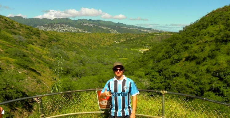 Subindo a cratera do Diamond Head