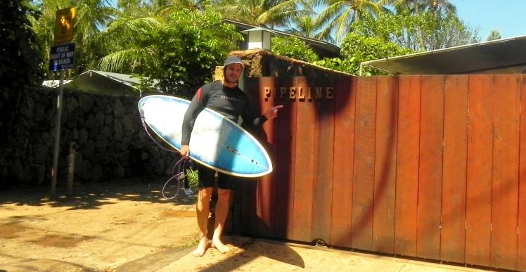 1º surfe em Pipeline