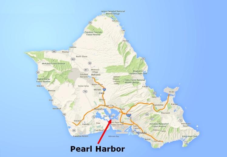 Localização de Pearl Harbour