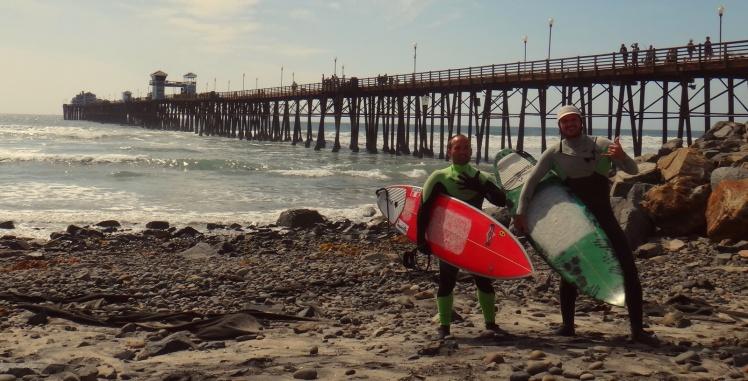 Surfing Ocean Side
