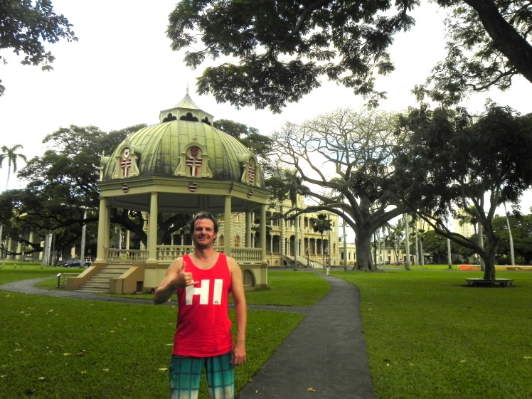 Palácio Iolani - O palácio foi a residência oficial do Rei Kalakaua e sua Rainha Liliuokalani, o último rei e rainha do Hawaii