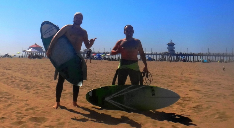 Surfe em Huntington Beach