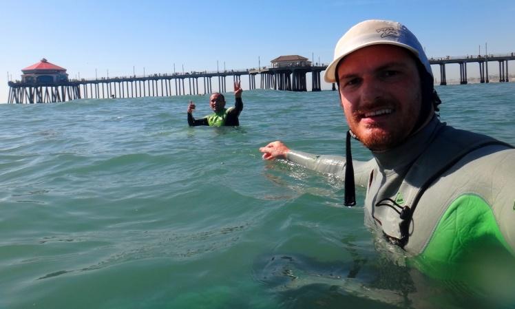 Surfe em Huntington Beach
