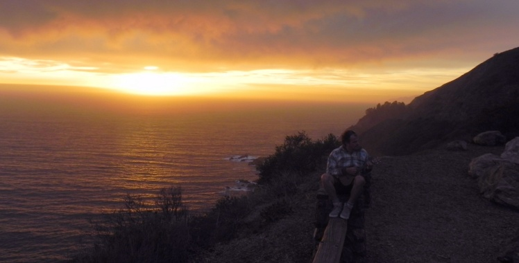 Por-do-sol irado na Big Sur