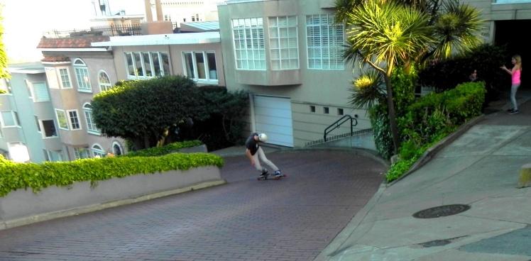 SK8 na Lombard Street - San Francisco