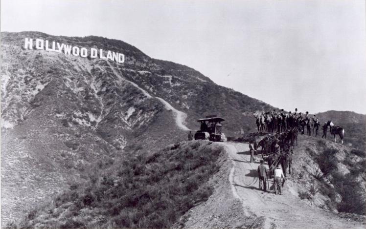 Letreiro original de Hollywood em 1923