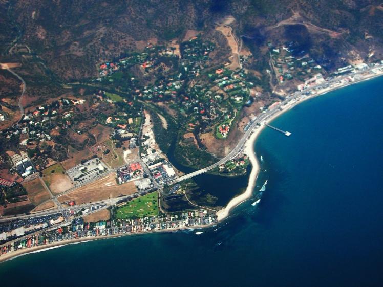 Vista aérea de Malibu