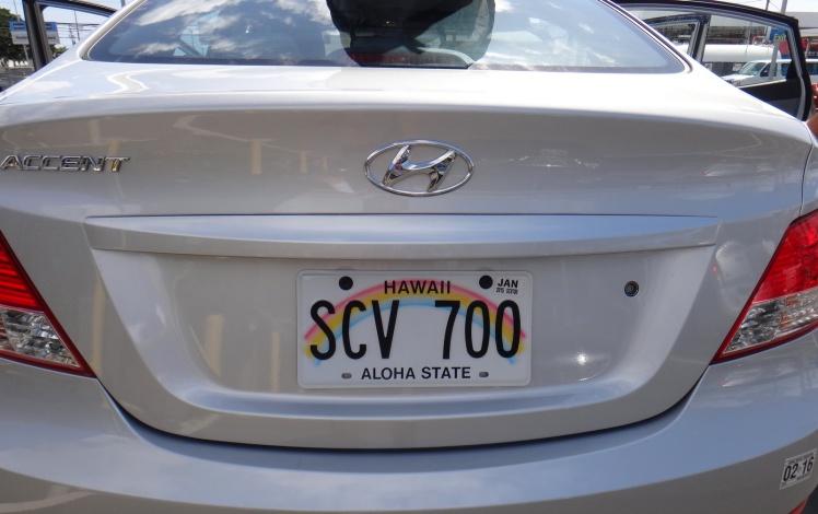 Charanga - Detalhe das placas dos automóveis havaianos!