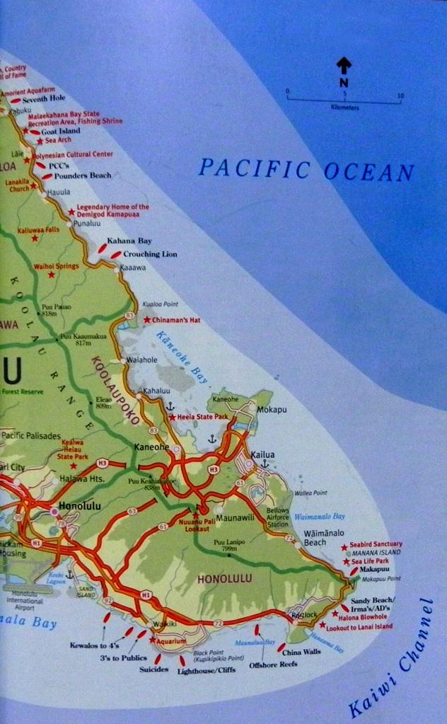 East Side e South Side de Oahu