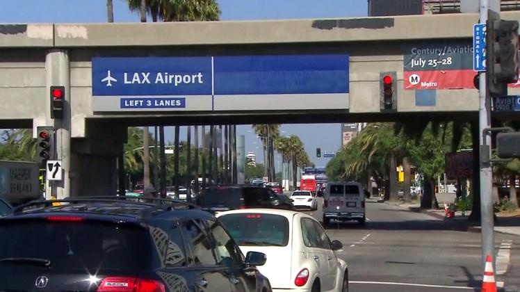 A caminho do aeroporto de Los Angeles