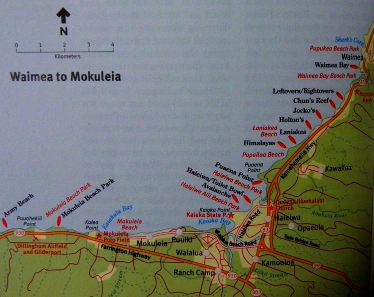 North Shore - Waimea à Mokuleia