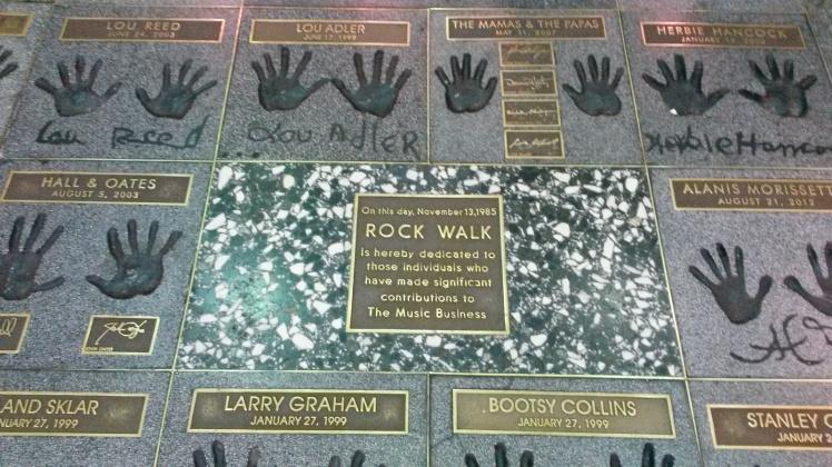 Guitar Center Rock Walk