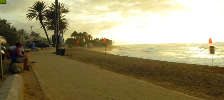 Beira de praia em Sunset