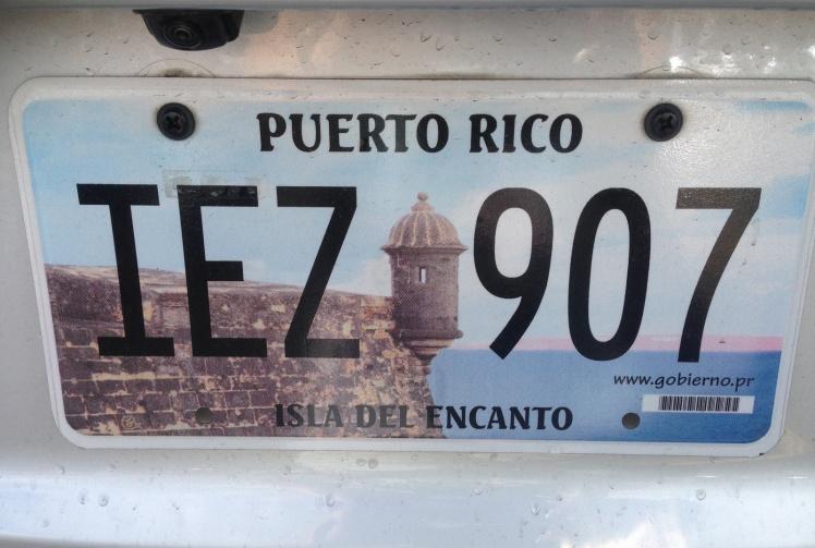 Placas dos carros em Puerto Rico
