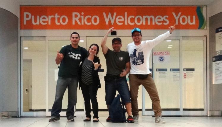Chegada em Puerto Rico
