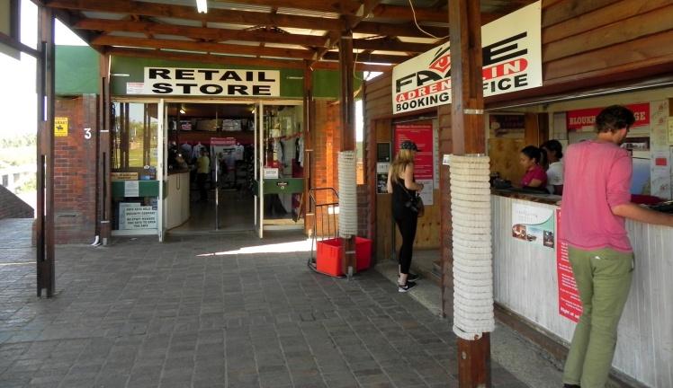 Face Adrenalin - Área de registro e loja