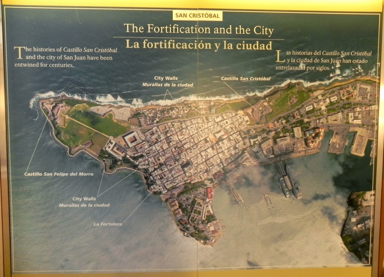 Viejo San Juan - A parte antiga da cidade era toda fortificada