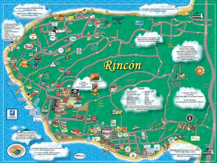 Mapa turístico de Rincon