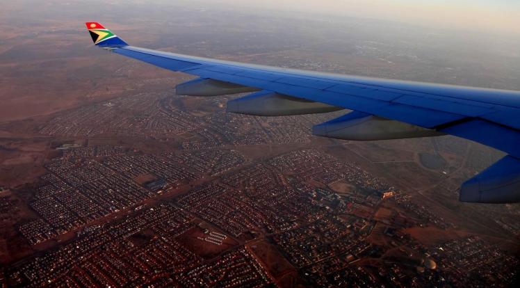 Sobrevoando Johannesburg