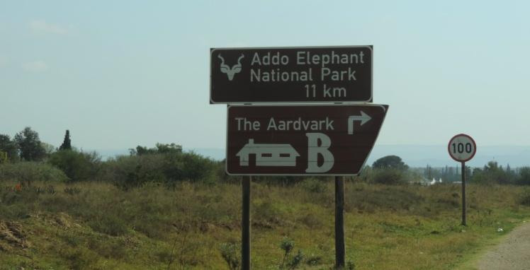 Dirigindo para o ADDO Elephant Park