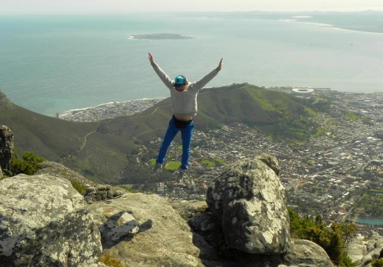 Table Mountain e a Robben Island ao fundo